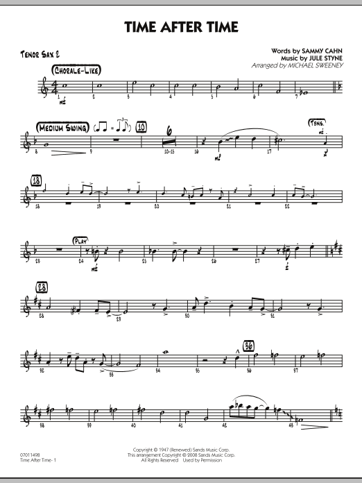 Time After Time - Tenor Sax 2 (Jazz Ensemble)