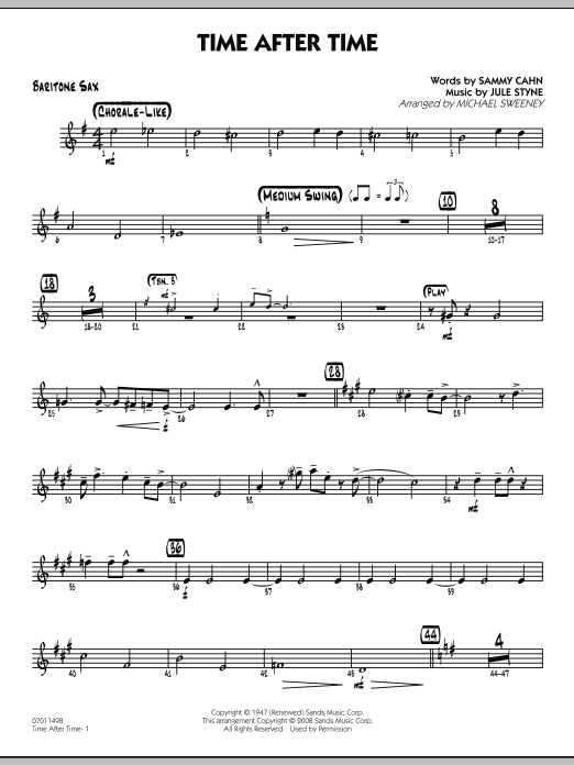 Time After Time - Baritone Sax (Jazz Ensemble)