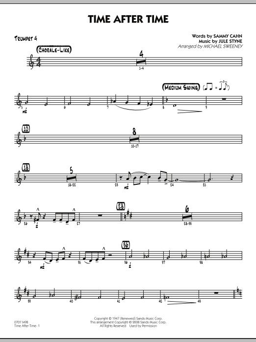 Time After Time - Trumpet 4 (Jazz Ensemble)