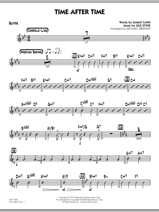 Time After Time - Guitar (Jazz Ensemble)