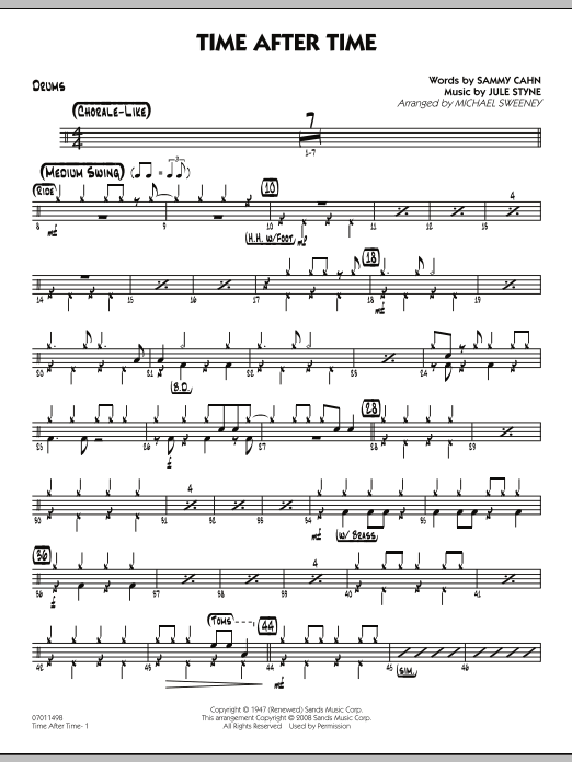 Time After Time - Drums (Jazz Ensemble)