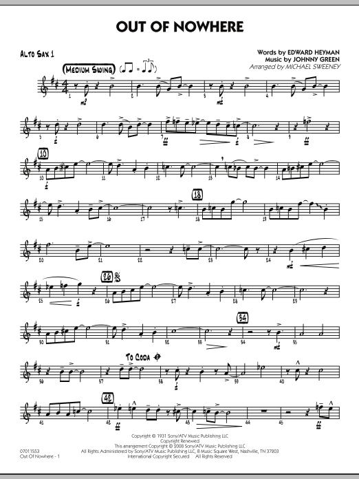 Out of Nowhere - Alto Sax 1 (Jazz Ensemble)