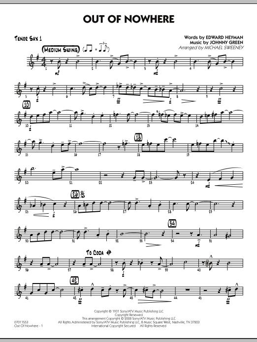 Out of Nowhere - Tenor Sax 1 (Jazz Ensemble)