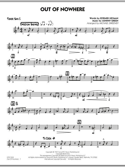 Out of Nowhere - Tenor Sax 2 (Jazz Ensemble)