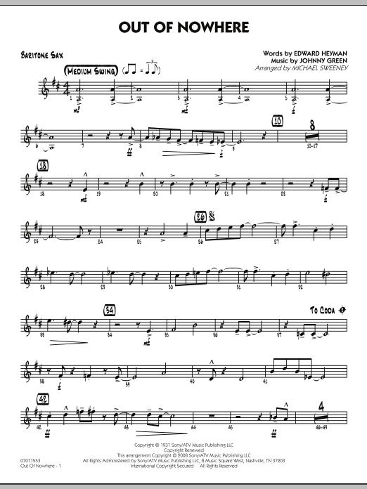 Out of Nowhere - Baritone Sax (Jazz Ensemble)