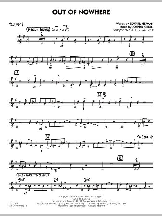Out of Nowhere - Trumpet 2 (Jazz Ensemble)