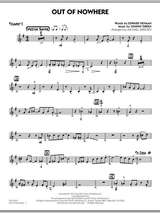 Out of Nowhere - Trumpet 3 (Jazz Ensemble)