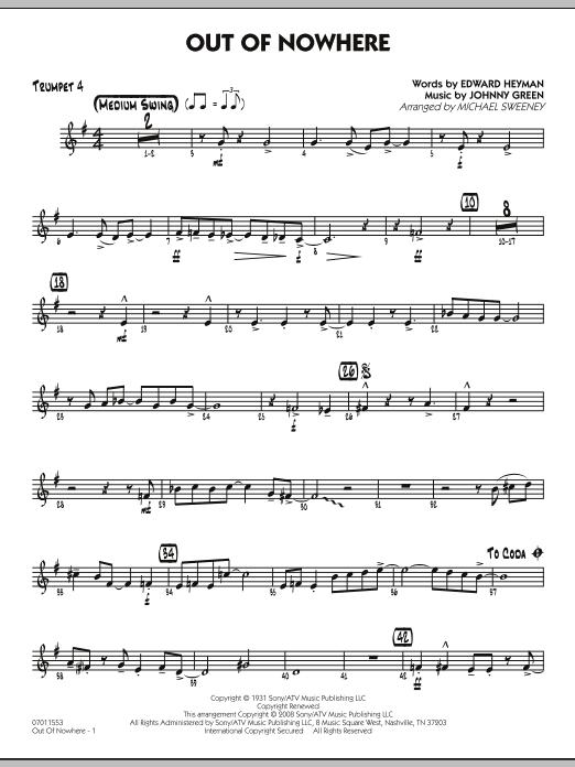Out of Nowhere - Trumpet 4 (Jazz Ensemble)