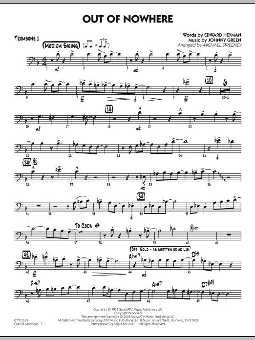 Out of Nowhere - Trombone 1 (Jazz Ensemble)