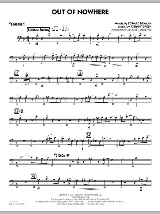 Out of Nowhere - Trombone 2 (Jazz Ensemble)