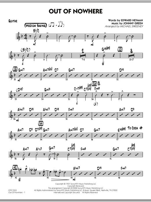 Out of Nowhere - Guitar (Jazz Ensemble)