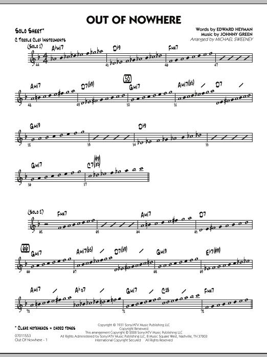 Out of Nowhere - Solo Sheet (Jazz Ensemble)