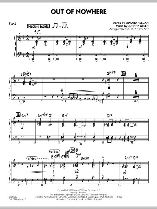 Out of Nowhere - Piano (Jazz Ensemble)