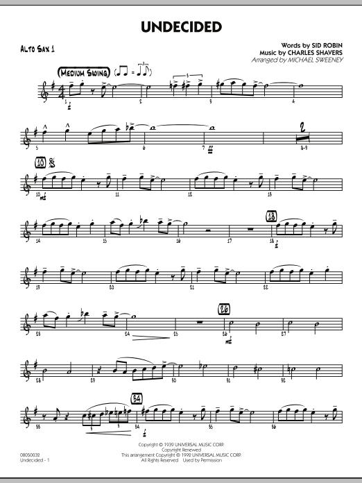 Undecided - Alto Sax 1 (Jazz Ensemble)