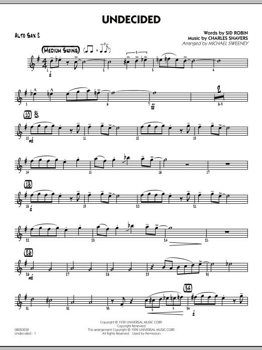 Undecided - Alto Sax 2 (Jazz Ensemble)