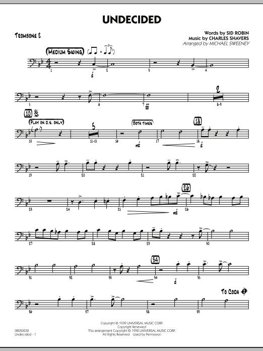 Undecided - Trombone 2 (Jazz Ensemble)