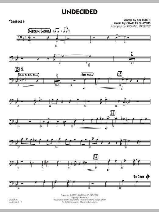 Undecided - Trombone 3 (Jazz Ensemble)