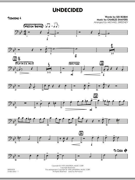 Undecided - Trombone 4 (Jazz Ensemble)