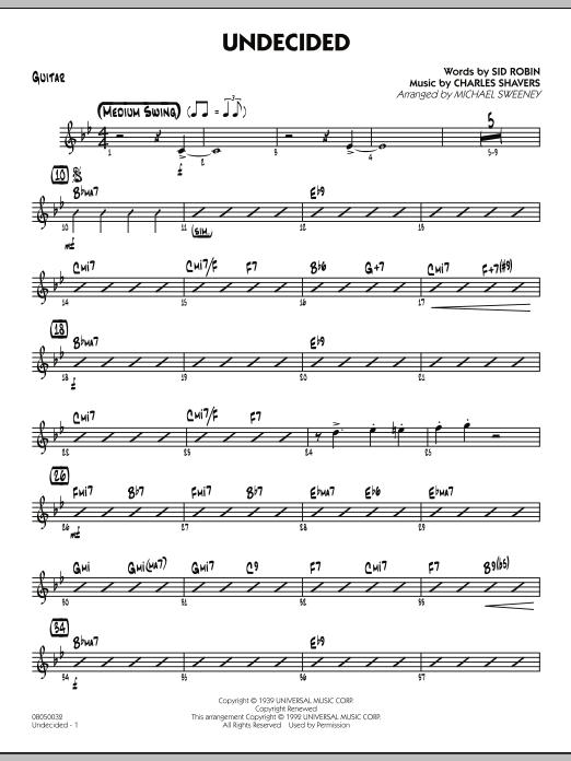 Undecided - Guitar (Jazz Ensemble)