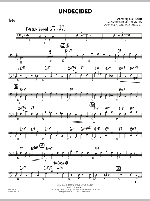 Undecided - Bass (Jazz Ensemble)