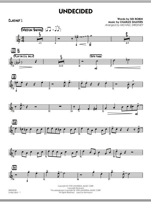 Undecided - Bb Clarinet 1 (Jazz Ensemble)
