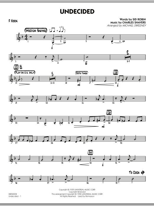 Undecided - F Horn (Jazz Ensemble)
