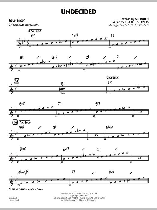Undecided - C Solo Sheet (Jazz Ensemble)