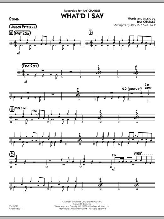 What'd I Say - Drums (Jazz Ensemble)