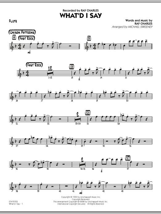 What'd I Say - Flute (Jazz Ensemble)