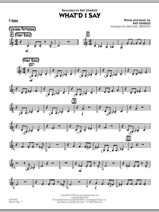 What'd I Say - F Horn (Jazz Ensemble)