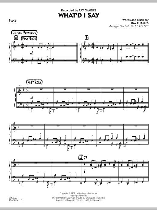 What'd I Say - Piano (Jazz Ensemble)