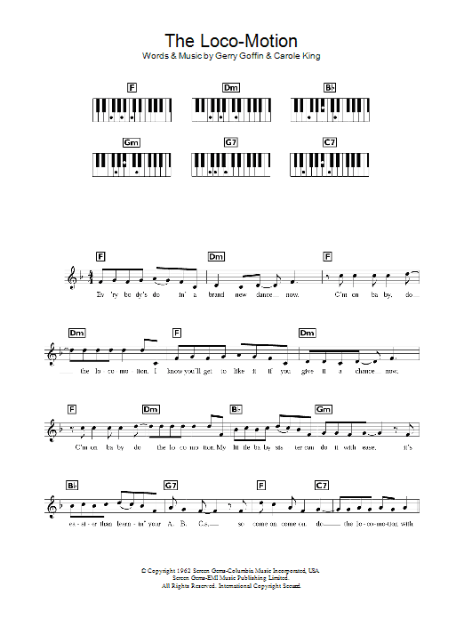 The Loco-Motion Sheet Music