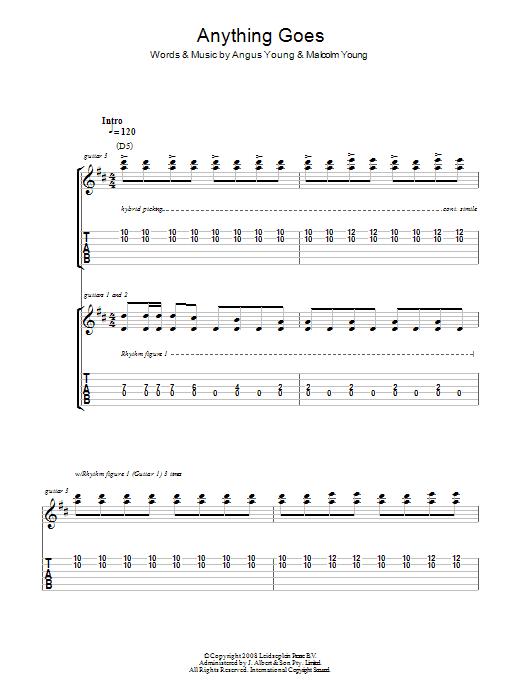 Anything Goes (Guitar Tab)