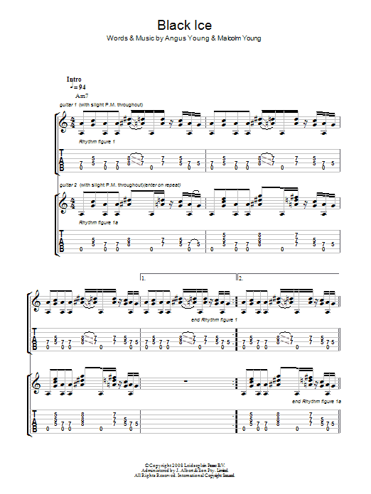 Black Ice (Guitar Tab)