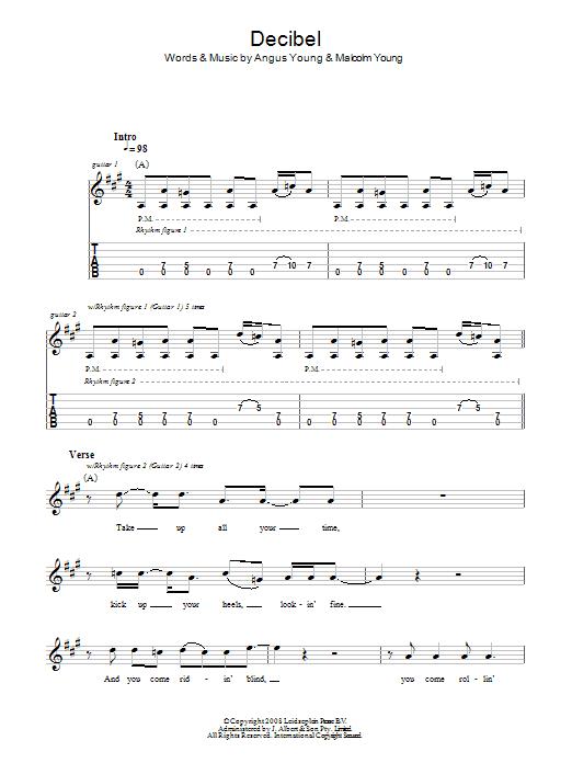 Decibel (Guitar Tab)