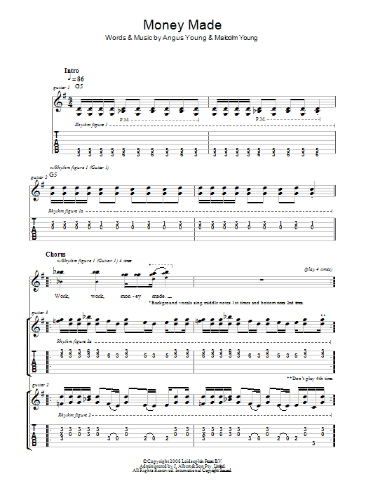 Money Made (Guitar Tab)