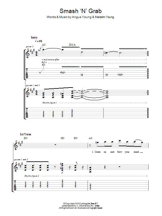 Smash 'N' Grab (Guitar Tab)