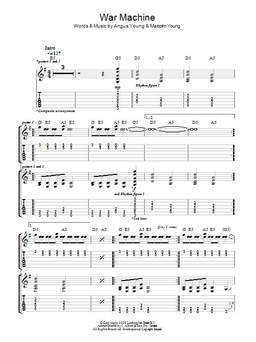 War Machine (Guitar Tab)