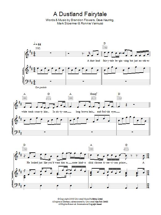 A Dustland Fairytale (Piano, Vocal & Guitar)
