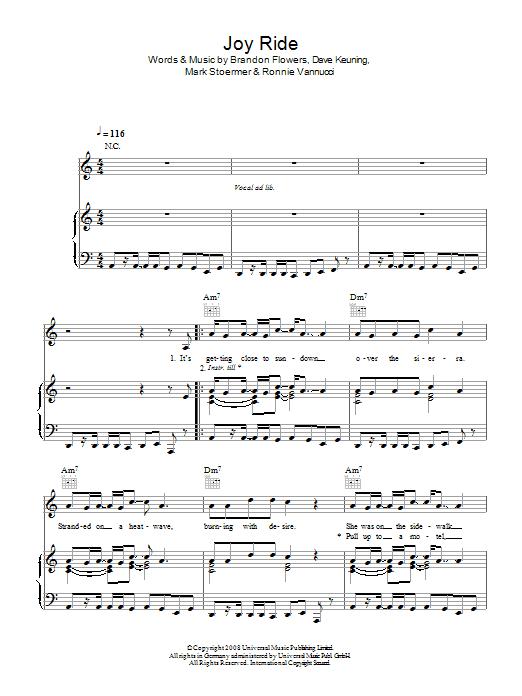 Joy Ride (Piano, Vocal & Guitar)