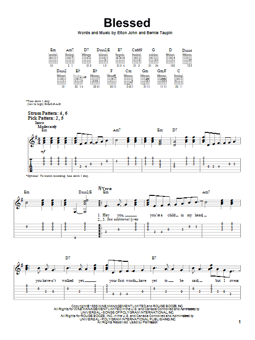 Candle in the wind guitar chords
