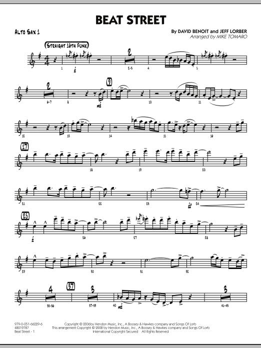 Beat Street - Alto Sax 1 (Jazz Ensemble)