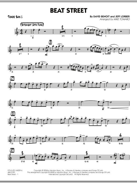 Beat Street - Tenor Sax 1 (Jazz Ensemble)