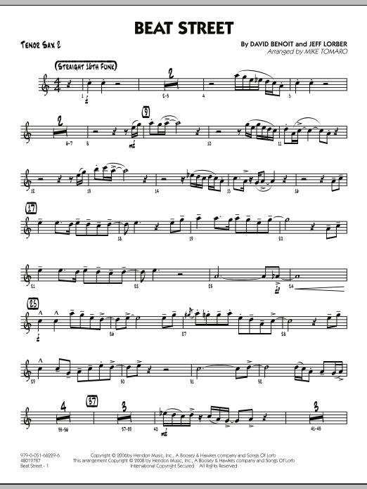 Beat Street - Tenor Sax 2 (Jazz Ensemble)