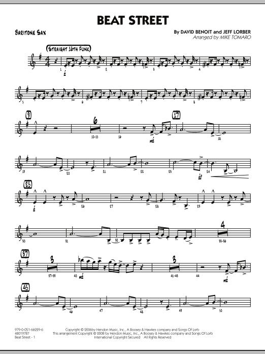 Beat Street - Baritone Sax (Jazz Ensemble)