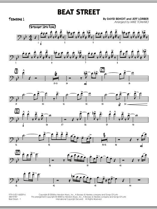 Beat Street - Trombone 1 (Jazz Ensemble)