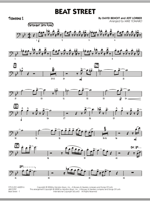 Beat Street - Trombone 2 (Jazz Ensemble)