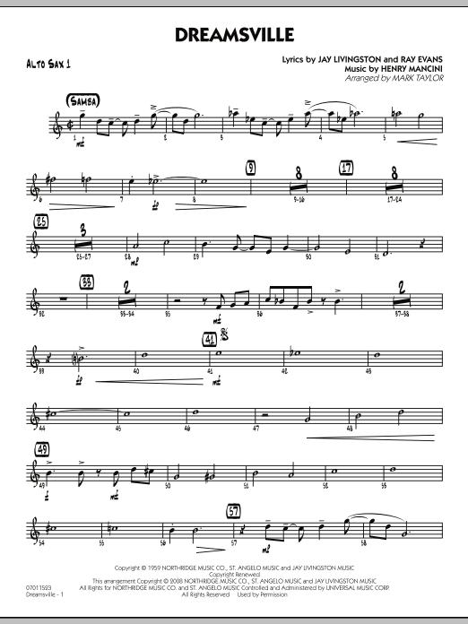 Dreamsville - Alto Sax 1 (Jazz Ensemble)