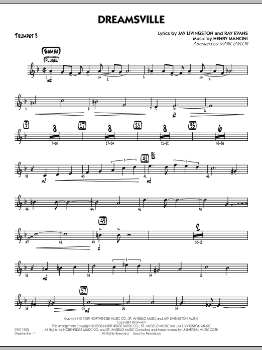 Dreamsville - Trumpet 3 (Jazz Ensemble)