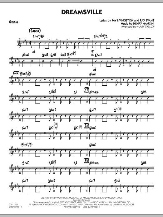 Dreamsville - Guitar (Jazz Ensemble)